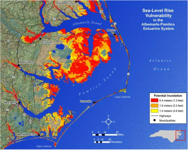 Weather Sea Rise Global Warming So What - Us sea level rise map